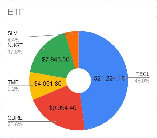 2020年8月10日現在のETF保有割合