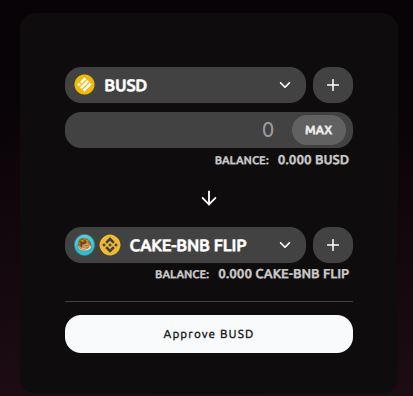 BUSDをCAKE-BNBに交換したりできる。
